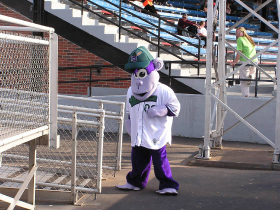 Bubba the Jammers mascot
