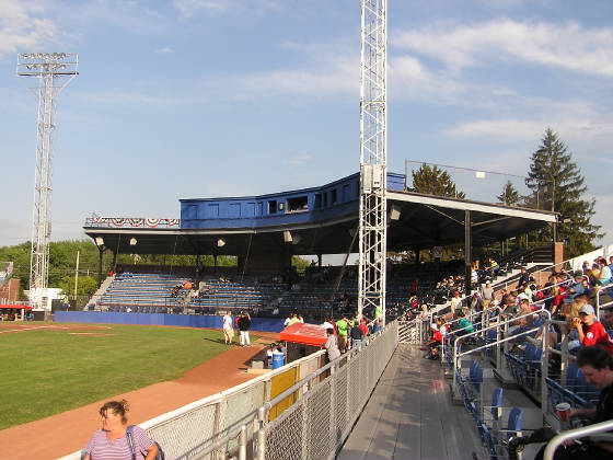 Looking in from Right field - Diethrick Field,