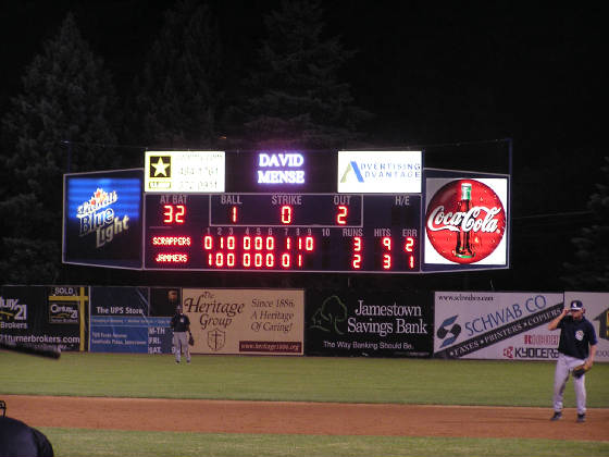 The Scoreboard - Diethrick Field - Jamestown, NY
